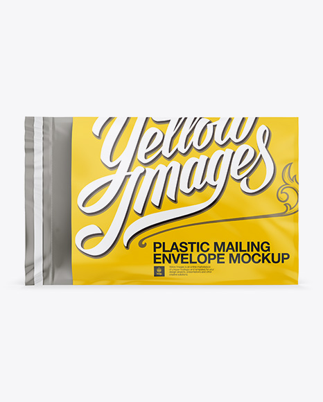 Download Plastic Mailing Envelope Mockup (Front & Back Views) Object Mockups