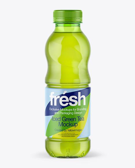 Download 0,5L Iced Green Tea Bottle Mockup Object Mockups