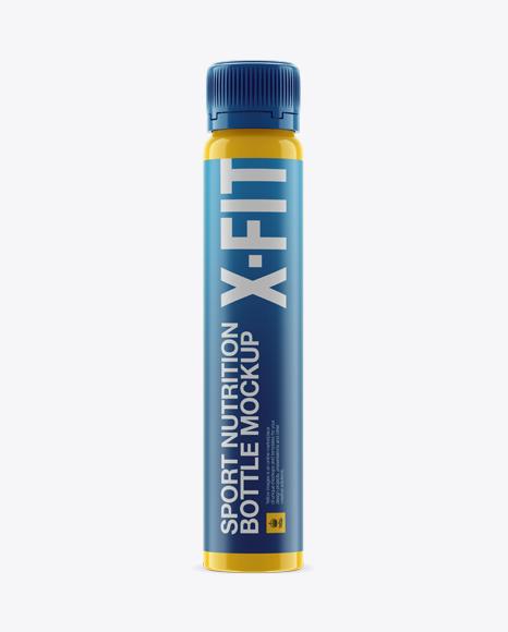 Download Gloss Plastic Sport Nutrition Bottle Mockup - Eye-Level Shot Object Mockups