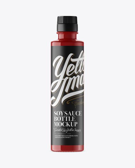 Download Soy Sauce Glossy Plastic Bottle Mockup Object Mockups