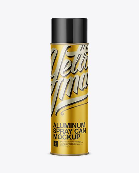Download Aluminum Sprayer w/ Plastic Cap Mockup Object Mockups