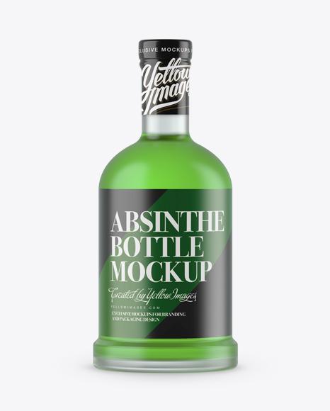 Download Frosted Glass Absinthe Bottle Mockup Object Mockups