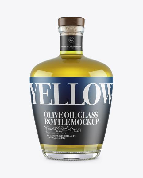 Download Olive Oil Glass Bottle w/ Bung Mockup Object Mockups