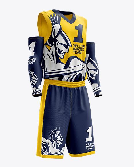 men u2019s full basketball kit with v