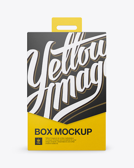 Download Carton Box Mockup - Front View Object Mockups
