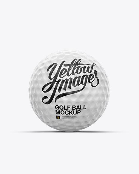 Download Glossy Golf Ball Mockup - Front View Object Mockups