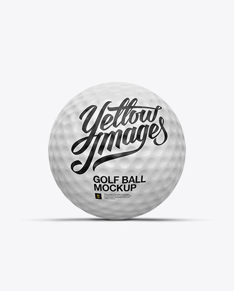 Matte Golf Ball PSD Mockup Front View 56.83MB