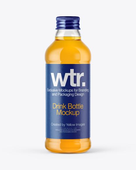 Glass Bottle with Orange Soft Drink PSD Mockup 16.03MB