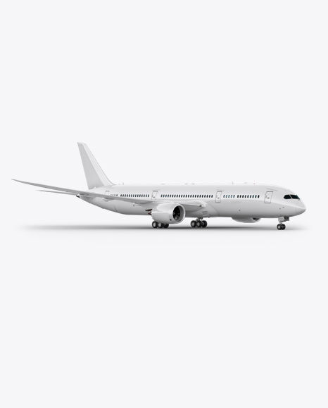 Boeing 787 Dreamliner Mockup - Front 3/4 View - PSD Template