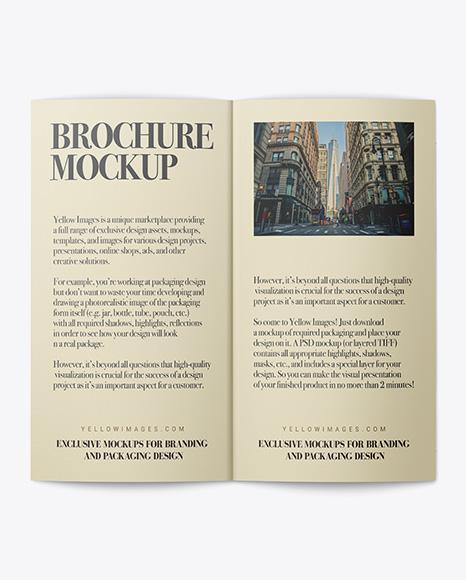 Open Bi-Fold Brochure PSD Mockup 64.58MB