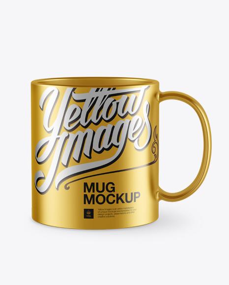Metallic Mug PSD Mockup 30.32MB