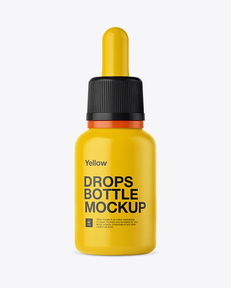 Nasal Drops Bottle PSD Mockup Front View 28.6MB