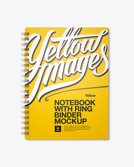 Notebook With Ring Binger PSD Mockup Front View 138.45MB