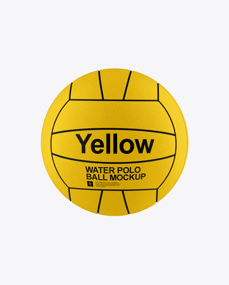 Water Polo Ball PSD Mockup Front View 29.77MB