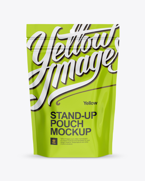 Download Glossy Stand Up Pouch with Zipper Mockup Object Mockups