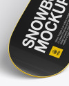 Snowboard Mockup (High-Angle Shot)