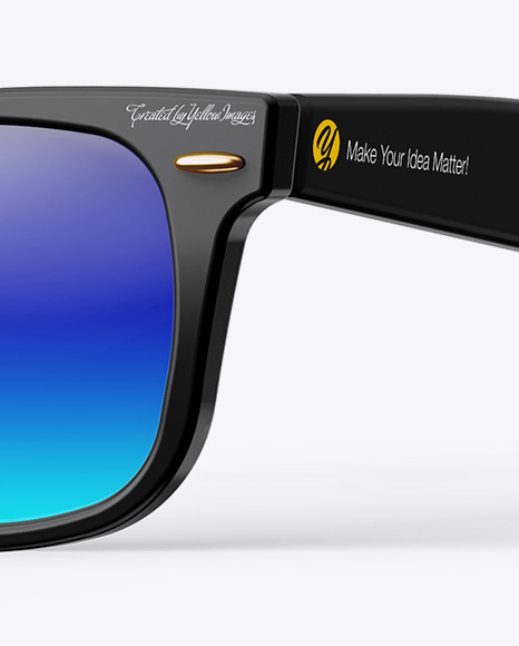 1b333b6d88a Sunglasses Mockup Half Side View In Arel Mockups On Yellow