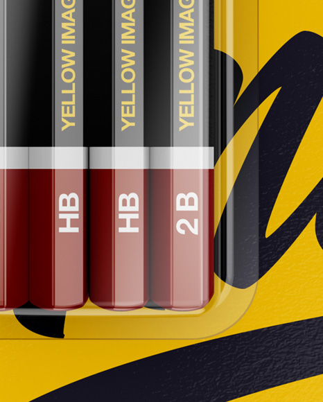 Blister Pack of 4 Pencils Mockup