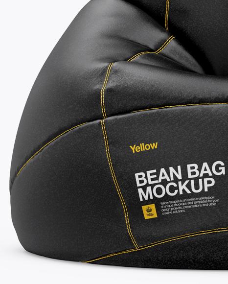 Leather Bean Bag Mockup