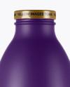750ml Matte Juice Bottle Mockup