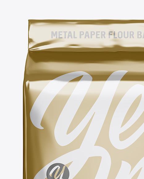 Metallic Paper Flour Bag Mockup