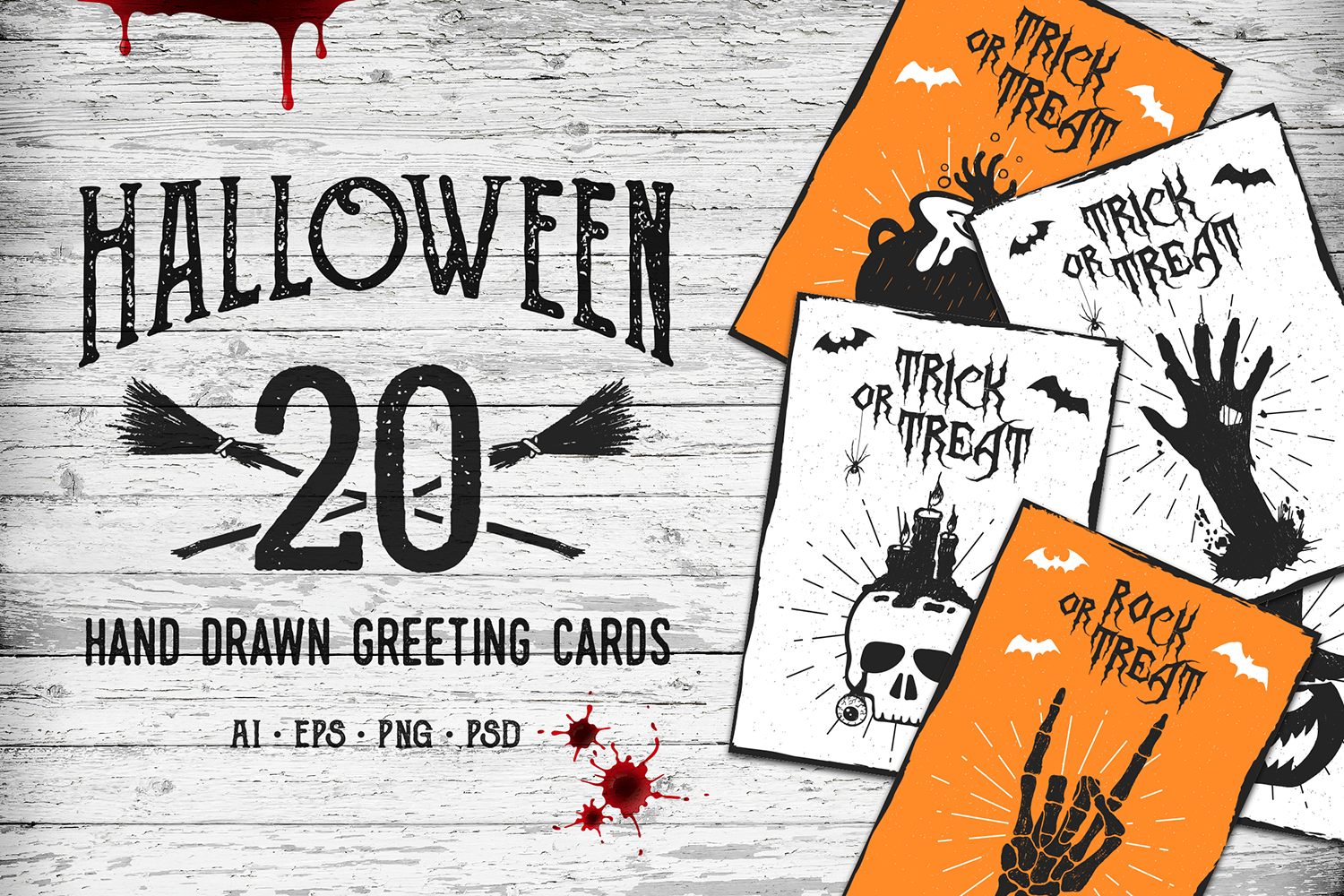 Halloween 20 Greeting Cards In Card Invitation Templates On