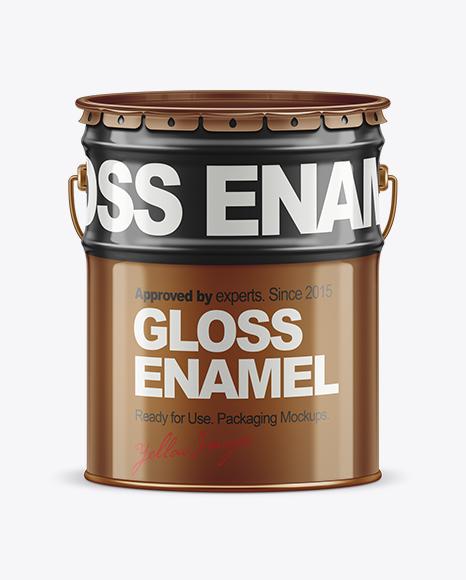 20L Tin Paint Bucket Mockup for Free