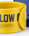 Two Rubber Slap Bracelets Free Mockup