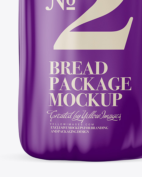 Matte Bread Package With Clip Mockup
