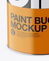 Matte Paint Bucket Mockup - Front View (High-Angle Shot)