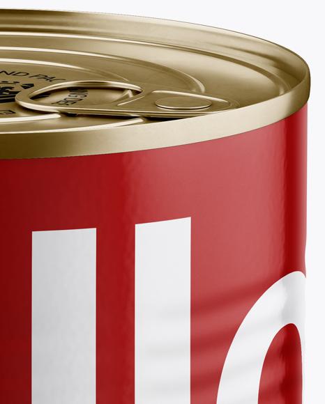 Tin Can With Pull Tab Mockup (High-Angle Shot)