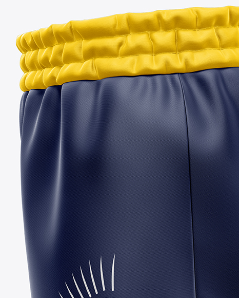 Women's Basketball Shorts Mockup - Side View in Apparel