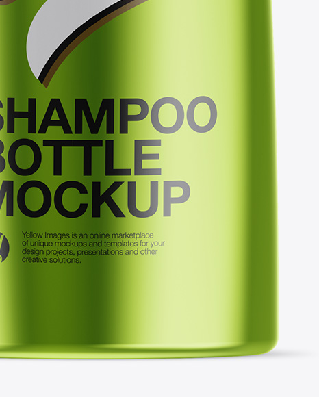 Metallic Shampoo Bottle Mockup