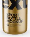 Matte Metallic Sport Bottle Mockup (High-Angle Shot)