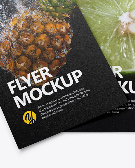 Two Textured Flyers Mockup