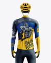 Men's Full Cycling Thermal Kit mockup (Back View)