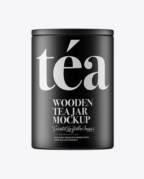 Wooden Tea Jar Mockup