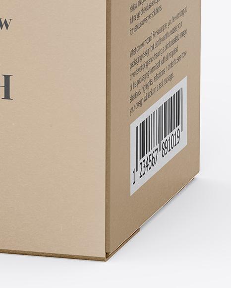 Box with Bottle Mockup - Half Side View (High-Angle Shot)
