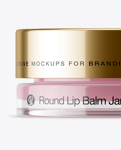 5ml Lip Balm Jar with Metallic Cap Mockup