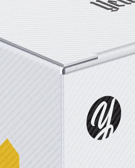 Paper Box Mockup - Half Side View