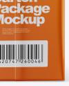 1L Carton Box Mockup - Back View