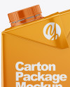 1L Carton Box Mockup - Side View