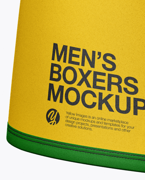 Men's Boxer Briefs Mockup - Front View