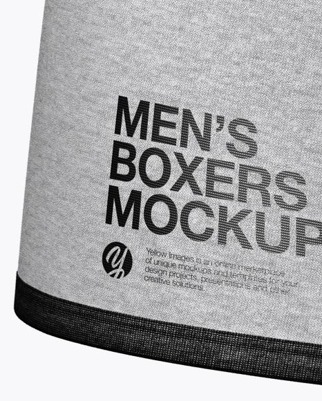 Melange Men's Boxer Briefs Mockup - Front View