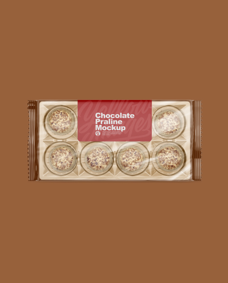 Chocolate Praline Pack Mockup - Top View