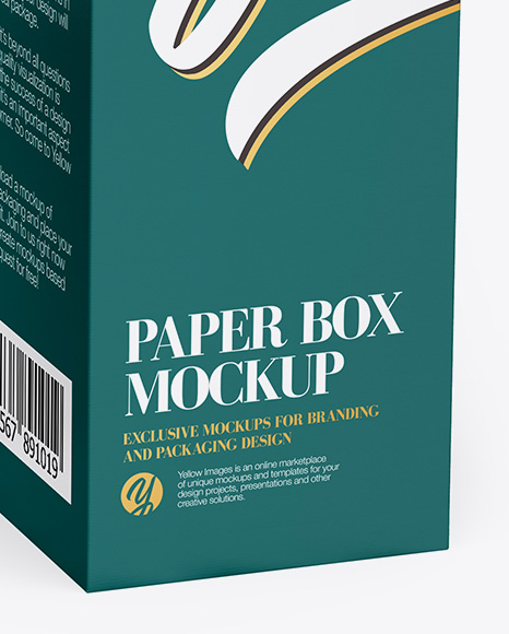 Two Textured Boxes Mockup - Half Side View