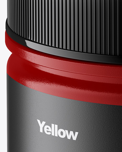 Glossy Jar Mockup - Front View (High-Angle Shot)