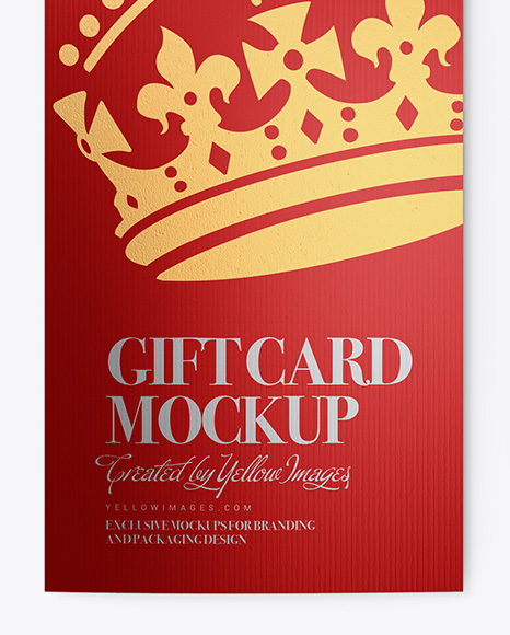 Textured Metallic Gift Card w/ Card Holder Mockup