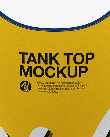 Women`s Tank Top Mockup - Back view