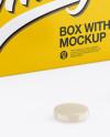 Glossy Box w/ Pills Mockup - Half Side View